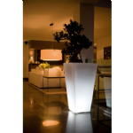 Lit Tapered Square Planters